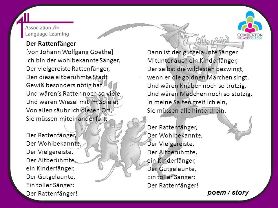 Der Rattenfänger [von Johann Wolfgang Goethe]